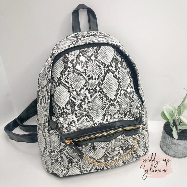 My Obsession Snakeskin Backpack