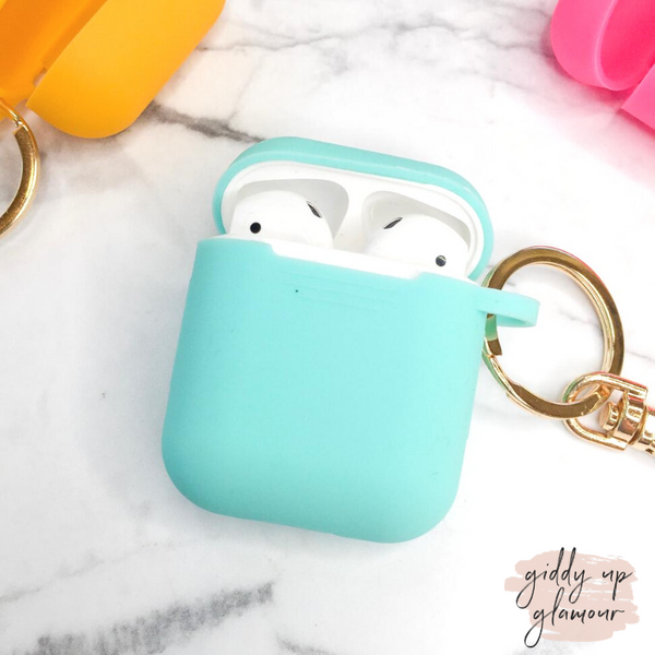 Protective AirPods Cover in Aqua