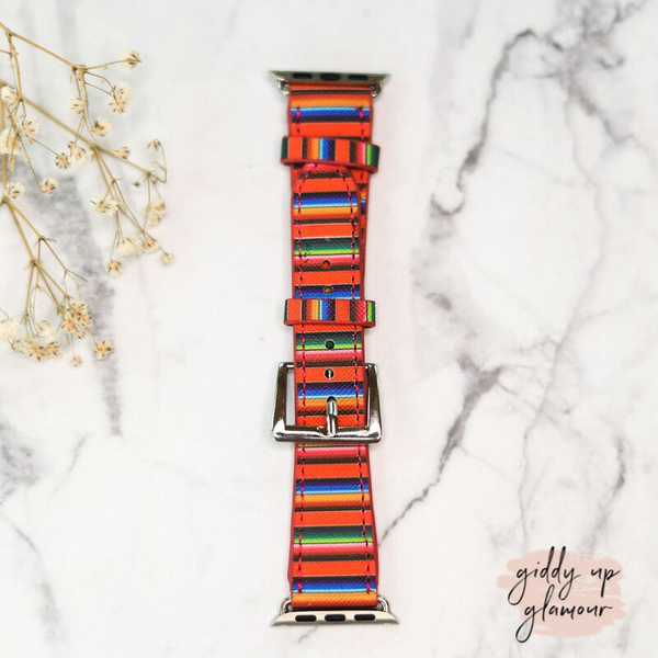 Apple Watch Band in Orange Serape