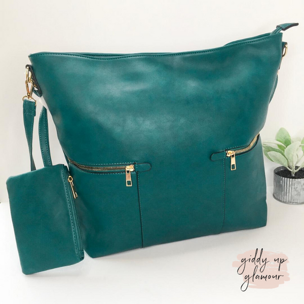 Make It Even Hobo Leather Bag in Teal