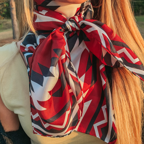 Southwest Wild Rag in Red and Black