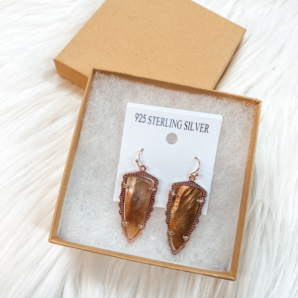 Holiday Special | Rose Gold Drop Earrings in Gift Box