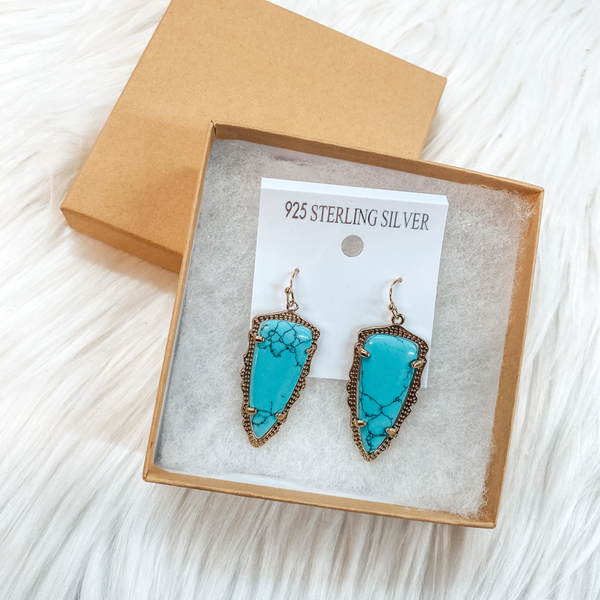 Holiday Special | Turquoise Drop Earrings in Gift Box