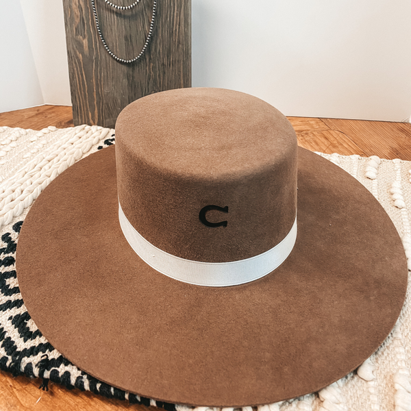 Charlie 1 Horse | Tumbleweed Wool Felt Hat with Crossed Arrow Pendant in Pecan