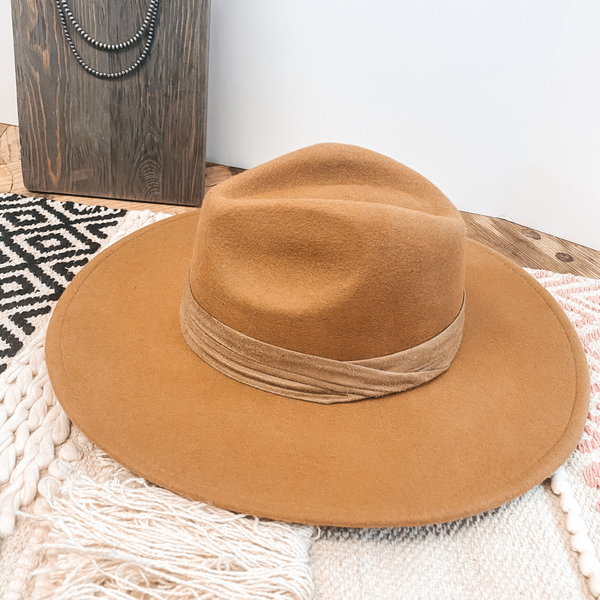 Perfect Pick Wool Hat with Matching Band in Tan