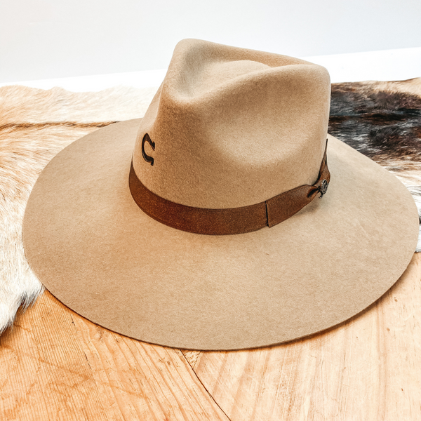 Charlie 1 Horse | Highway Wool Felt Hat in Sand