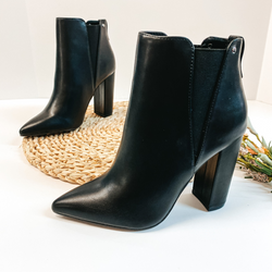Made For Walking Pointed Toe Booties in Black