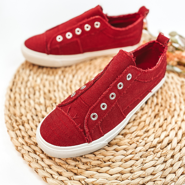 Corky's | Babalu Slip On Sneakers in Red
