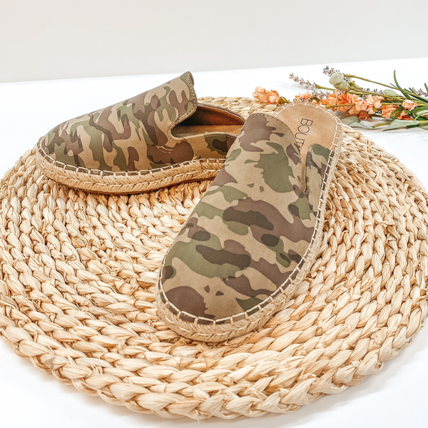 Corky's | Taffy Side Espadrille Slide On Sandals in Camouflage