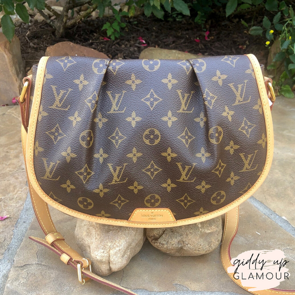 Authentic Used Louis Vuitton Menilmontant PM Bag in Monogram