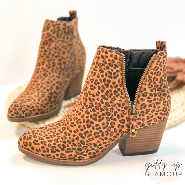 Corky's | Tombstone Heeled Zipper Booties in Leopard