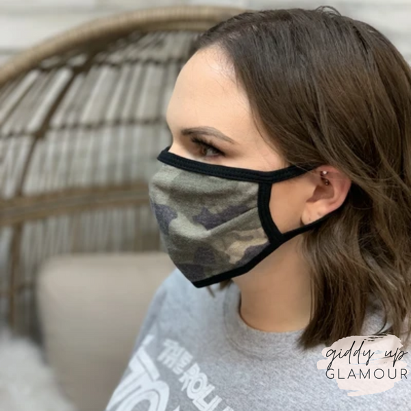 Can't Cover Style Cloth Face Covering in Faded Camouflage