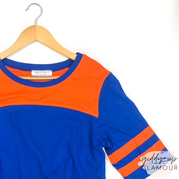 Game Day Varsity Top in Orange and Blue