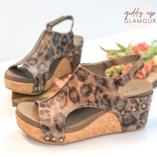 Corky's | Onto The Next Step Wedges in Distressed Leopard