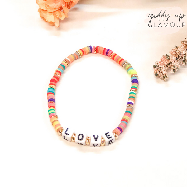Love Friendship Bracelet with Disc Beads in Multi