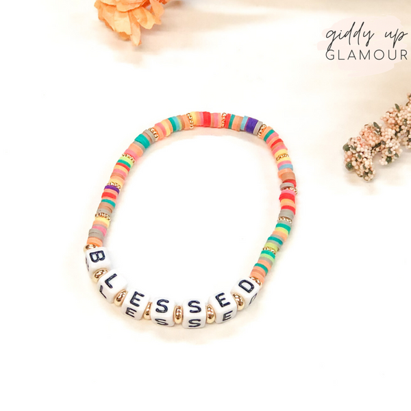 Blessed Friendship Bracelet with Disc Beads in Multi