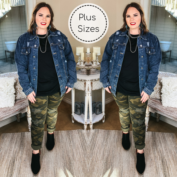 Judy Blue | Plus Sizes | No Hiding Style Camouflage Destroy Skinny Jeans