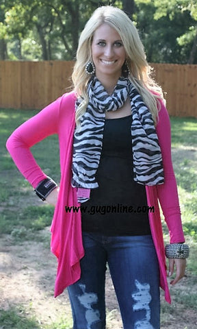 Cut It Out Cross Cardigan in Pink