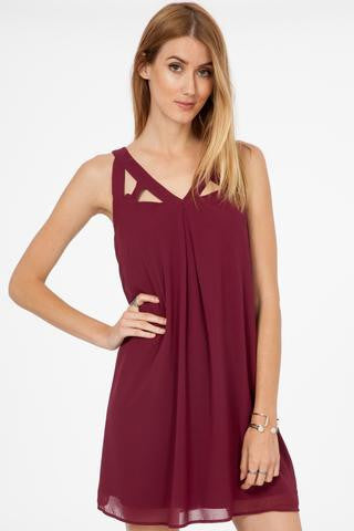 All Wrapped Up Maroon Dress