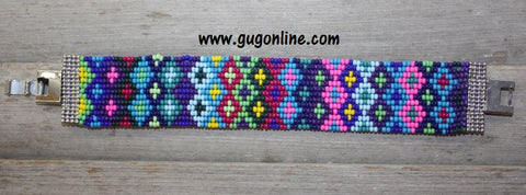Gypsy Soule Royal and Pink Colorful Tone Beaded Bracelet