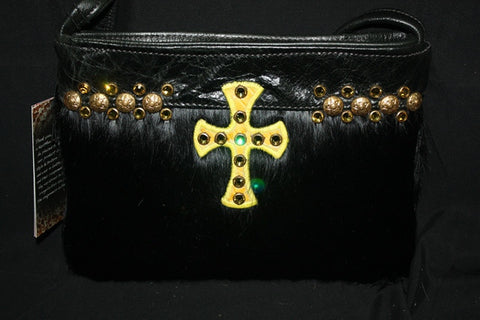 KurtMen Designs ODFW Black Hair on Hide with Yellow Cross