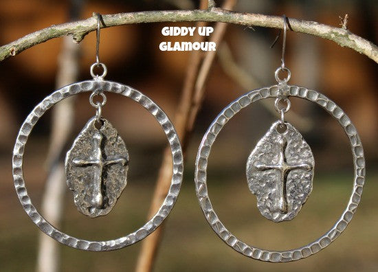 Boho Chic Jewelry Cross Dangle