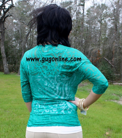Emerald Animal Print Simple Tunic