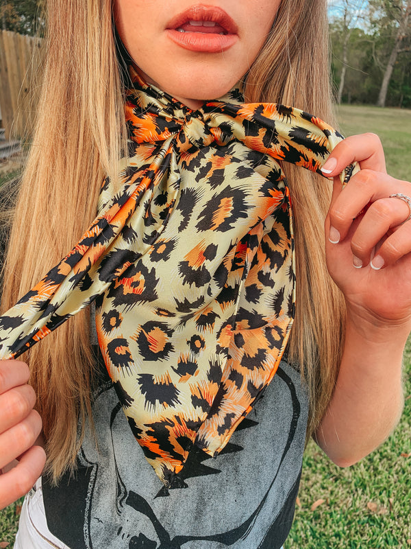 Cheetah Wild Rag in Gold