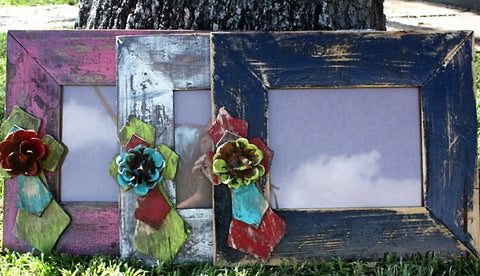 Rustic Handmade Photo Faith Frame with  8 x 10 Opening