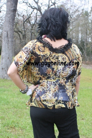 Fancy Black and Gold Blouse