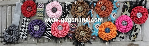 Fancy Crystal Flower Headbands in Assorted Designs