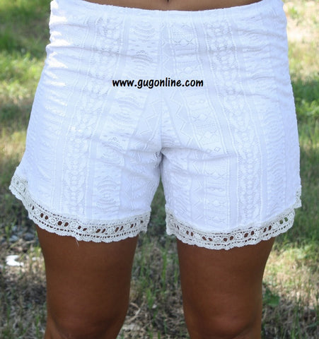 Forever in Lace Shorts in White