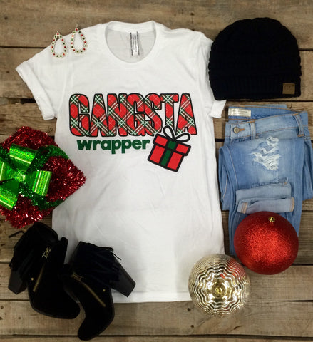 Gangsta Wrapper Short Sleeve Christmas Tee