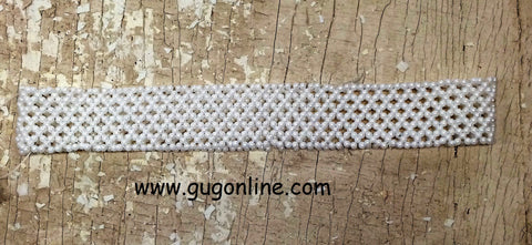 Beaded Headband in Pearl