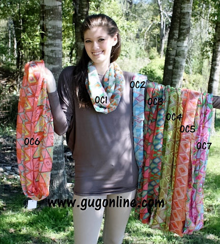 Geometric Infinity Scarf in Assorted Colors