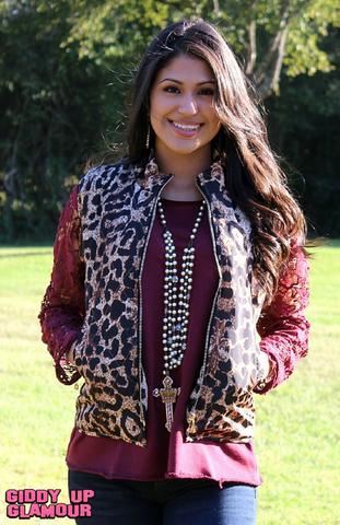 Change of Pace Leopard Print Vest