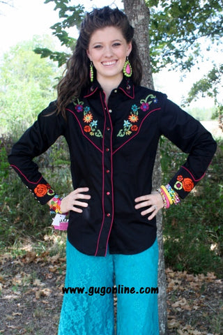 Gypsy Soule Live Out Loud Rockmount Black Button Up