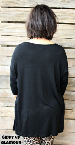 Everyday Essential Piko Top in Black