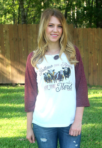 Follow Your Heart Not Your Herd Baseball Tee
