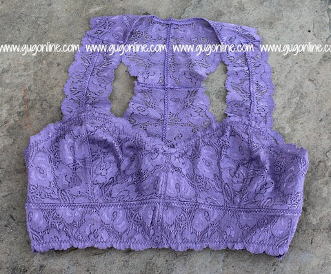 The Lace is On Bralette in Lavender