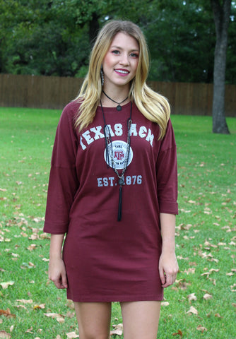 Game Day Collection: The Gameday Essential Texas A&M Tunic Dress