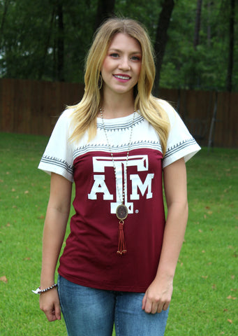 Game Day Collection: Catch You Later Texas A&M Embroidered Tee