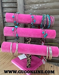 Bracelet Bar in Pink and Leopard