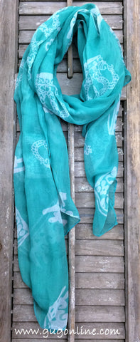 Crown Scarf in Mint