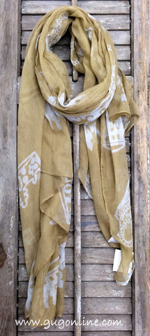 Crown Scarf in Tan