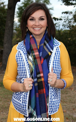 Back Down South Gingham Plaid Vest