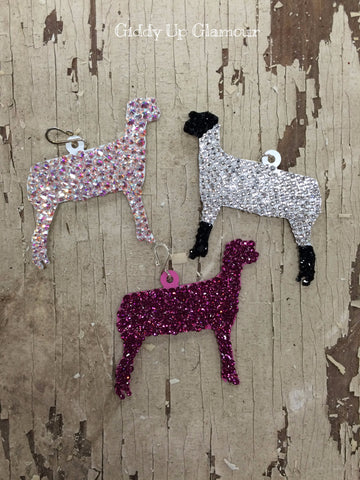 Fully Hand Crystallized Lamb Pendant - 2 Sizes
