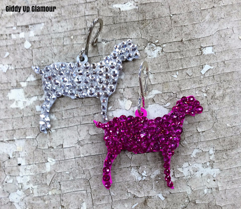 Fully Hand Crystallized Goat Pendant - 2 Sizes