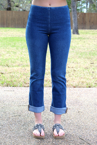 Lysse Denim Boyfriend Jeans in Indigo Blue