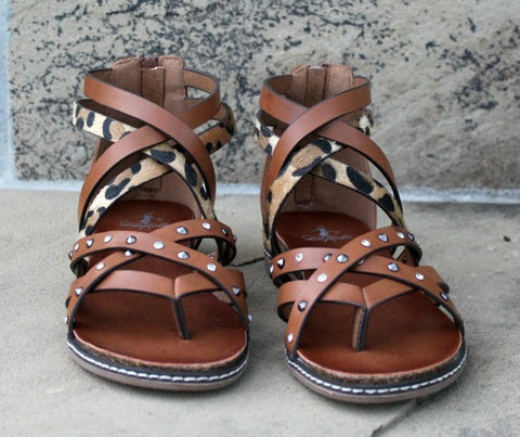 Jessie Tan & Leopard Sandals
